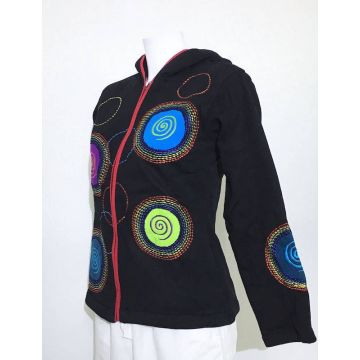 Sweater Femme Brodé Spirales
