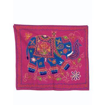 Tapisserie Murale Brodé Eléphant Indien NP-1/B