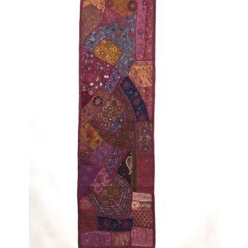Tapis Mural Rajasthan Inde TM-16/O Ton Bordeaux
