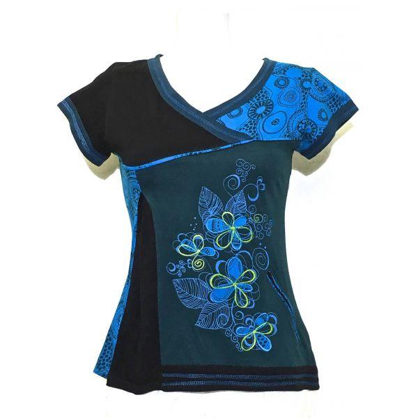 Top Manches Courtes Imprimé Mandalas réf: 16-03 bleu