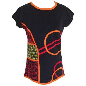 T-Shirt Bansi en Jersey de Coton Mi-Manches