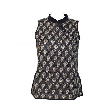 Manora Haut Femme Coton Imprimé Cédar Noir