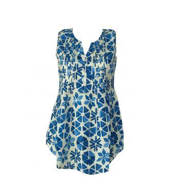 Tunique Kenda Femme Rayonne motif  Catena Bleu