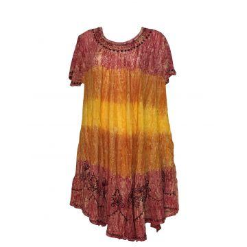 Robe Grande Taille Tie Dye Multicolore JK-570/E