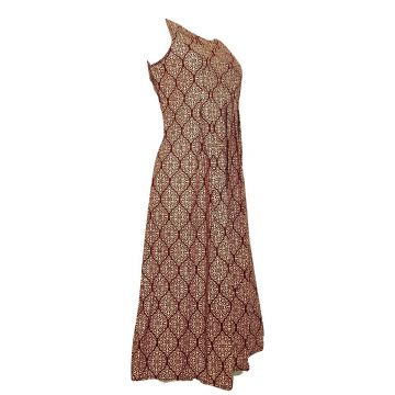 Robe Longue Vanua Imprimé Osian Bordeaux