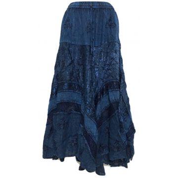 Jupe Longue Jalore Viscose Bleu Pétrole
