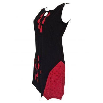 Tunique Juhafar Jersey de coton Noir et Rouge
