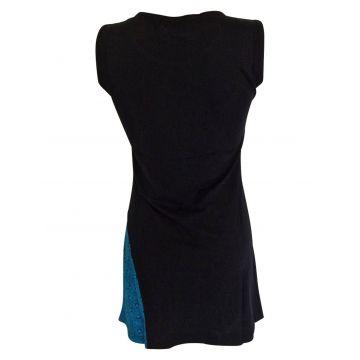 Tunique Juhafar Jersey de coton Noir et Bleu