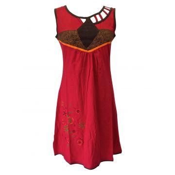 Robe Évasée Mundi Jersey Rouge d'été