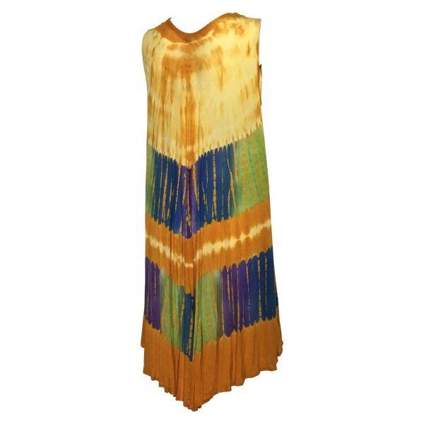 Robe Grande Taille évasée R-31 orange