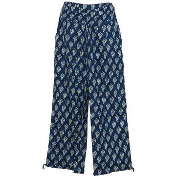 Pantalon Femme Naricha imprimé Cédar Bleu Marine