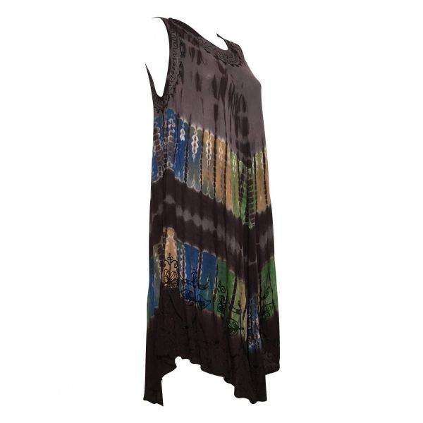 Robe Grande Taille évasée R-31chocolat