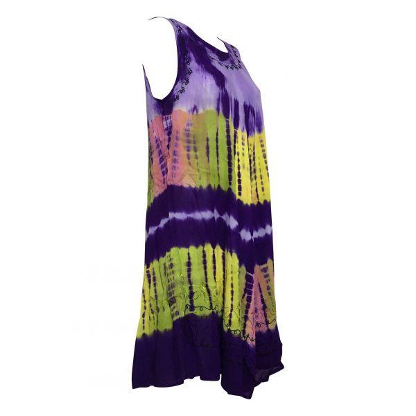 Robe Grande Taille évasée R-31violet