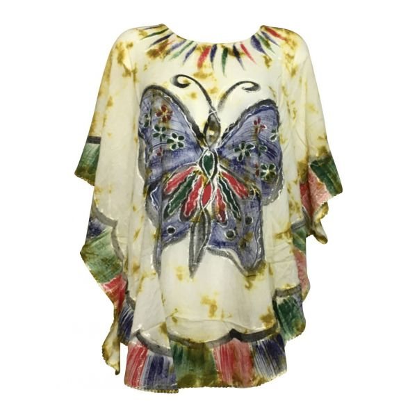 Blouse-Tie-Dye-Kaftan-Grand-Papillon-Peint-JK-1982-moutarde