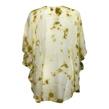 Blouse Tie Dye Kaftan Grand Papillon Peint JK-1982 moutarde