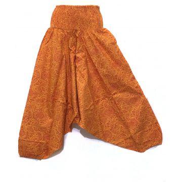 9037268d59b2d8 Chakina Pantalon Jupe Ethnique Kaki Coton Imprimé
