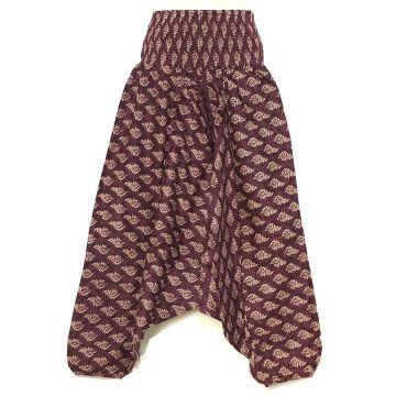 Sarouel Smocks Coton Imprimé Cedar Prune