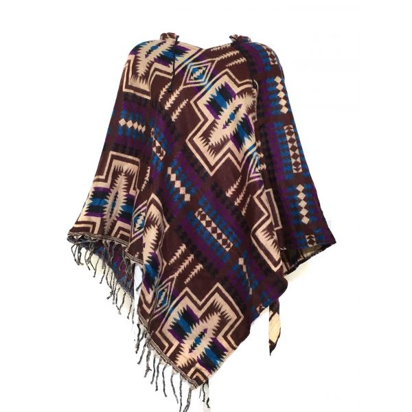 Poncho Cardigan Aztèque Taille Ample