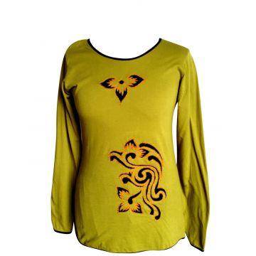 T-Shirt Lumbini Anis brodé Devant.