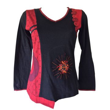 T-Shirt Jahadi Jersey imprimé Rouge