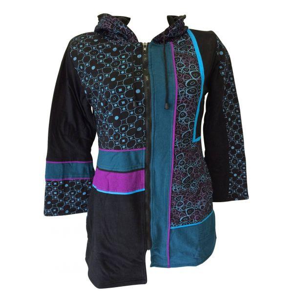 Manteau Dakara Imprimé Ethnique Bleu