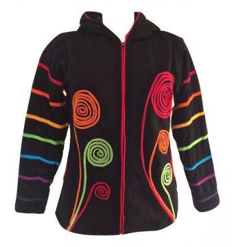 Veste Kadali maille jersey avec spirales et polaire