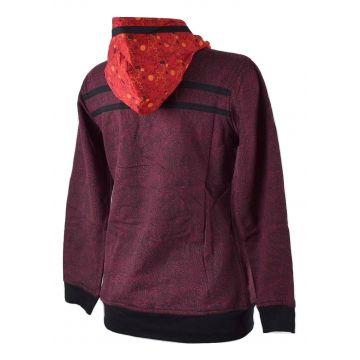 Sweater Ethnique Femme Bajura Bordeaux