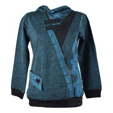 Sweater Ethnique Femme Bajura Bleu Pétrole