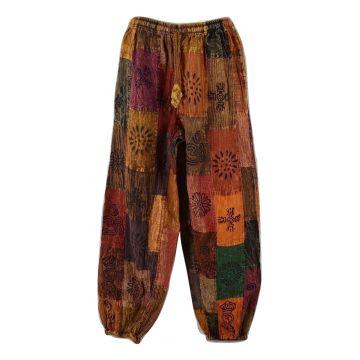 Pantalon Kareti Patchwork Stonewash et Block Print