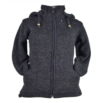 Manteau Salohi laine Coupe Asymétrique Anthracite