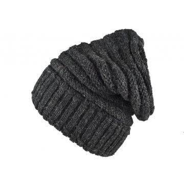 Bonnet Long Nalma Homme Laine Anthracite