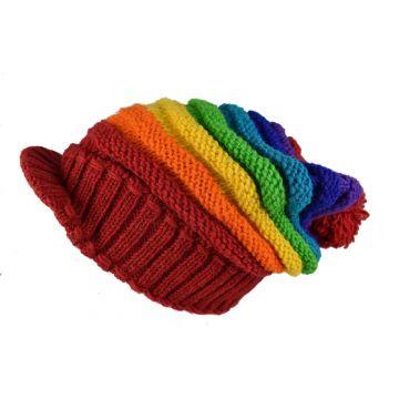 Casquette Dreadlocks Rainbow Laine Tricotée