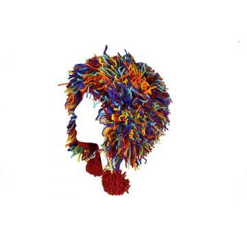 Bonnet Harka Unisexe Laine Tricotée Multicolore Rainbow
