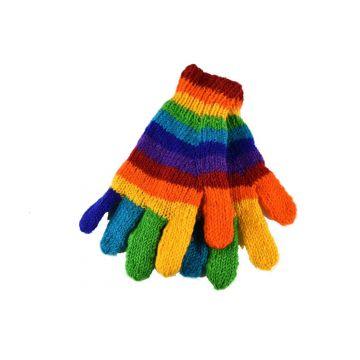 Gants  Kolki  Laine Tricotée Rainbow doublé polaire