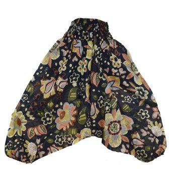 Sarouel Smocks Femme Coton Imprimé réf: 2Sold05