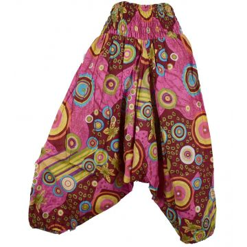 Sarouel Smocks Femme Coton Imprimé réf: 2Sold14