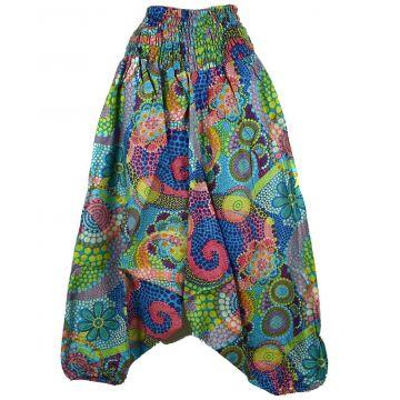 Sarouel Smocks Femme Coton Imprimé réf: 2Sold31