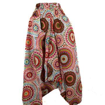 Sarouel Smocks Femme Coton Imprimé réf: 2Sold36