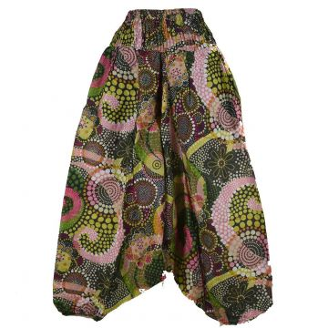 Sarouel Smocks Femme Coton Imprimé réf: 2Sold40