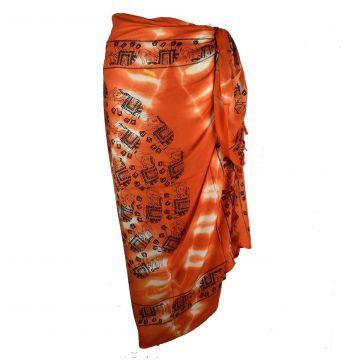 Paréos Plage Batik  réf: PA-18/02 Orange