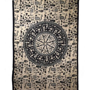 Tenture Tribal Mandalas  210 cm x 140 cm réf: BC-18/04
