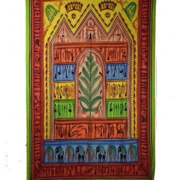 Tenture Tribal Peint 210 cm x 140 cm réf: BC-18/10