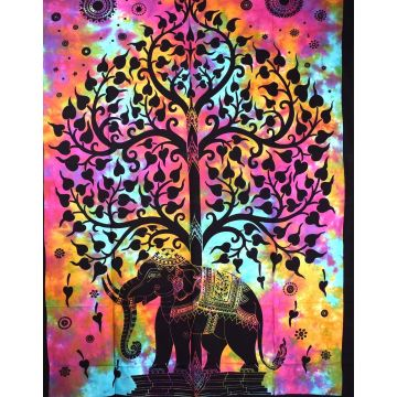 Tenture Elephant Tree Tie Dye réf: BC-18/15