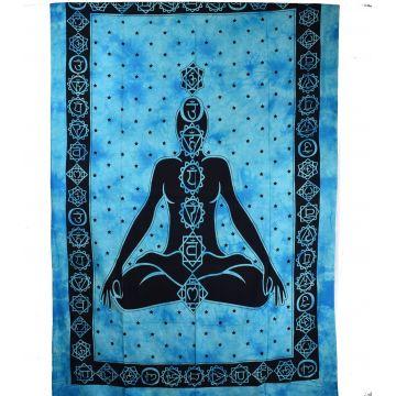 Tenture Yogi Chakra Tie Dye réf: BC-18/25 Turquoise