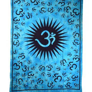 Tenture Aum Namah Shivaya Tie Dye réf: BC-18/27 Turquoise