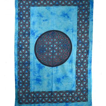 Tenture Mandala Tie Dye 210 cm x 140 cm réf: BC-18/29 Turquoise