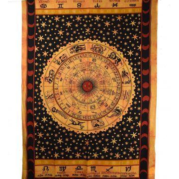 Tenture Astrologic Tie Dye 210 cm x 140 cm réf: BC-18/35 Peche