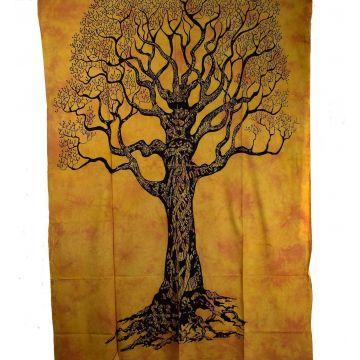 Tenture Tree  Tie Dye Pêche 210 cm x 140 cm  réf: BC-18/37