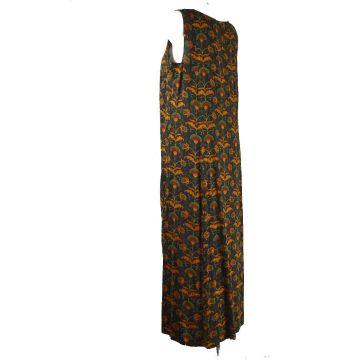 Vanua Robe Longue Viscose Imprimé Koyali Noir
