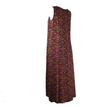 Vanua Robe Longue Viscose Imprimé Koyali Prune